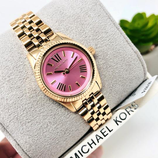 Michael Kors NEW Women's Petite Lexington Gold-Tone Watch MK4363 Image 2