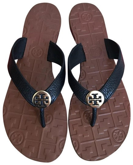 Preload https://img-static.tradesy.com/item/26134339/tory-burch-black-thora-thong-leather-sandals-size-us-7-regular-m-b-0-1-540-540.jpg
