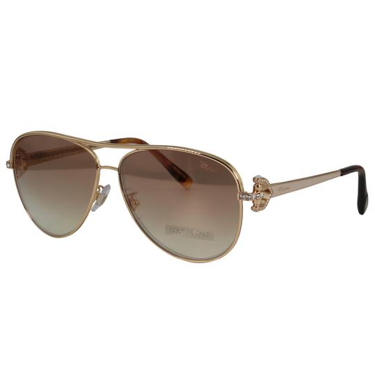 Chopard New SCH C17S imperiale Women Crystals Pink Flash Aviator Sunglasses Image 1