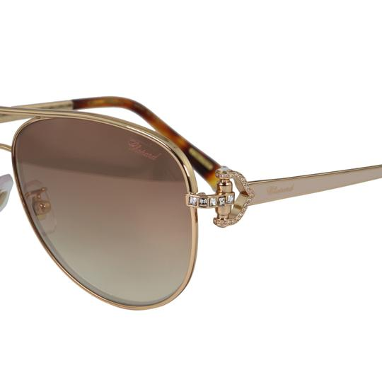 Chopard New SCH C17S imperiale Women Crystals Pink Flash Aviator Sunglasses Image 2