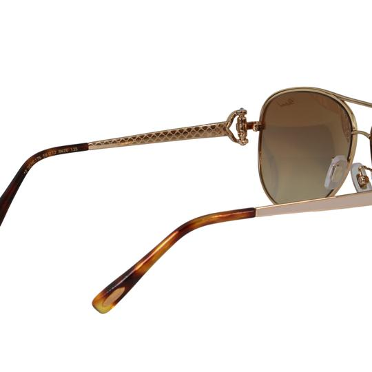 Chopard New SCH C17S imperiale Women Crystals Pink Flash Aviator Sunglasses Image 7