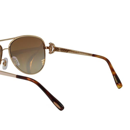 Chopard New SCH C17S imperiale Women Crystals Pink Flash Aviator Sunglasses Image 8