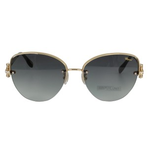 Chopard New SCH C18S imperiale Women Crystals Semi-Rimless Cat Eye Sunglasses - item med img