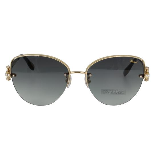Preload https://img-static.tradesy.com/item/26134362/chopard-gray-and-gold-new-sch-c18s-imperiale-women-crystals-semi-rimless-cat-eye-sunglasses-0-3-540-540.jpg