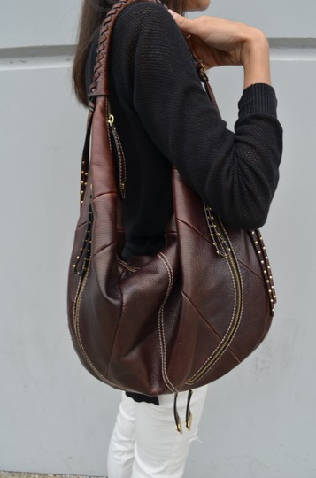 orYANY Whipstitch Jasmine Leather Hobo Bag Image 1