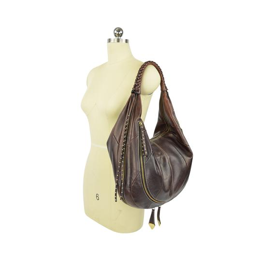 orYANY Whipstitch Jasmine Leather Hobo Bag Image 4
