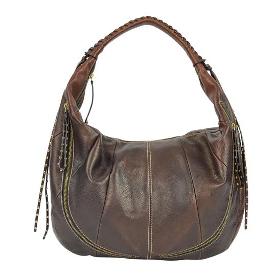 orYANY Whipstitch Jasmine Leather Hobo Bag Image 5