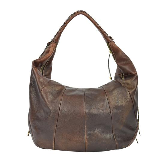orYANY Whipstitch Jasmine Leather Hobo Bag Image 7
