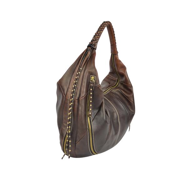 orYANY Whipstitch Jasmine Leather Hobo Bag Image 8
