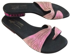 Donald J. Pliner pink and black Sandals