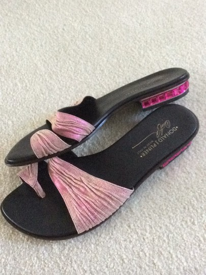 Donald J. Pliner pink and black Sandals Image 1