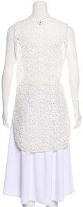 Torn by Ronny Kobo Crocet Lace Tunic Top WHITE