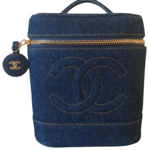 Chanel Rare Vintage Blue Denim Travel Bag