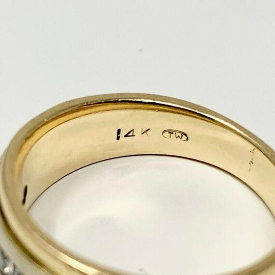 Other 14k Yellow Gold and .6ct Diamond Wedding Band Ring Size 7 Image 2