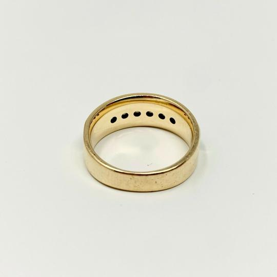 Other 14k Yellow Gold and .6ct Diamond Wedding Band Ring Size 7 Image 3