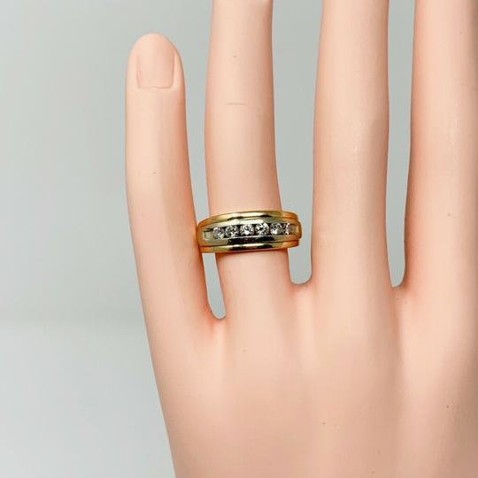 Other 14k Yellow Gold and .6ct Diamond Wedding Band Ring Size 7 Image 5