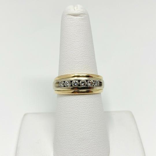 Other 14k Yellow Gold and .6ct Diamond Wedding Band Ring Size 7 Image 6