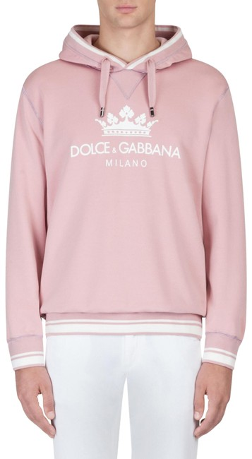 Preload https://img-static.tradesy.com/item/26134588/dolce-and-gabbana-pink-men-s-cotton-milano-print-sweatshirthoodie-size-2-xs-0-1-650-650.jpg