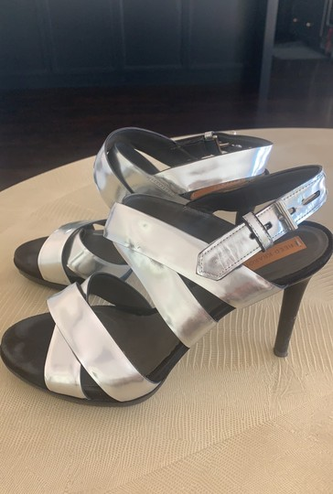 Reed Krakoff Evening Strappy silver Sandals Image 1