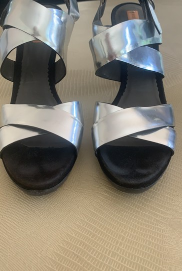 Reed Krakoff Evening Strappy silver Sandals Image 2