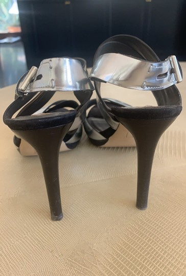 Reed Krakoff Evening Strappy silver Sandals Image 3