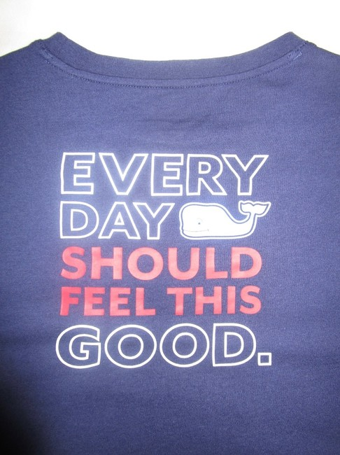 Vineyard Vines T Shirt Navy Image 3
