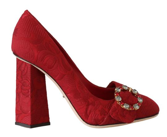 Preload https://img-static.tradesy.com/item/26134680/dolce-and-gabbana-red-jacquard-floral-crystal-pumps-size-eu-385-approx-us-85-regular-m-b-0-0-540-540.jpg