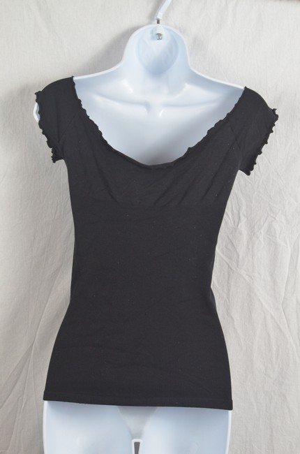 Guess By Marciano Ruffled Studded Top Black Image 3