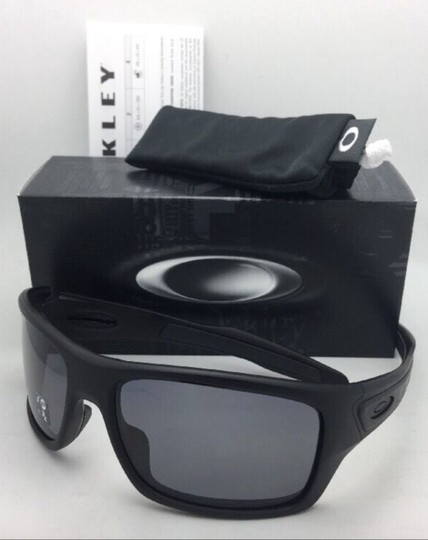 Oakley Polarized OAKLEY Sunglasses TURBINE OO9263-07 Matte Black w/Grey Image 1