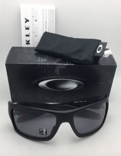 Oakley Polarized OAKLEY Sunglasses TURBINE OO9263-07 Matte Black w/Grey Image 2