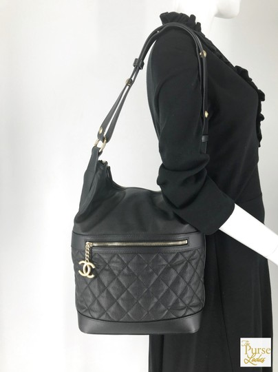 Chanel Caviar Leather Hobo Bag Image 11