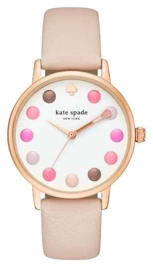 Kate Spade NEW vachetta leather and rose gold-tone metro watch KSW1253 Image 1