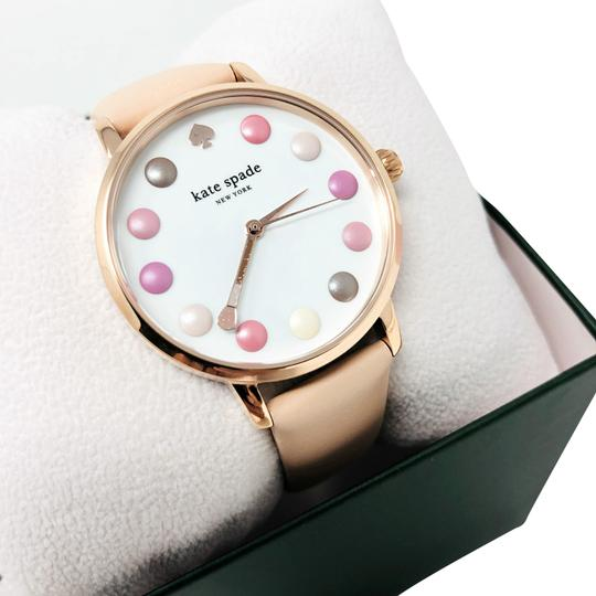 Kate Spade NEW vachetta leather and rose gold-tone metro watch KSW1253 Image 2