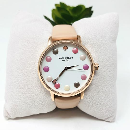 Kate Spade NEW vachetta leather and rose gold-tone metro watch KSW1253 Image 3