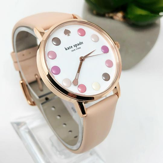 Kate Spade NEW vachetta leather and rose gold-tone metro watch KSW1253 Image 4