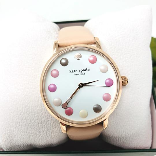 Kate Spade NEW vachetta leather and rose gold-tone metro watch KSW1253 Image 5