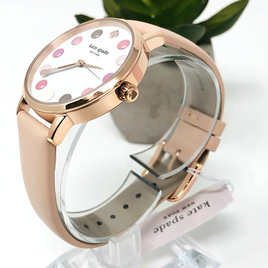 Kate Spade NEW vachetta leather and rose gold-tone metro watch KSW1253 Image 6