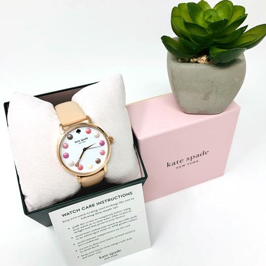 Kate Spade NEW vachetta leather and rose gold-tone metro watch KSW1253 Image 7