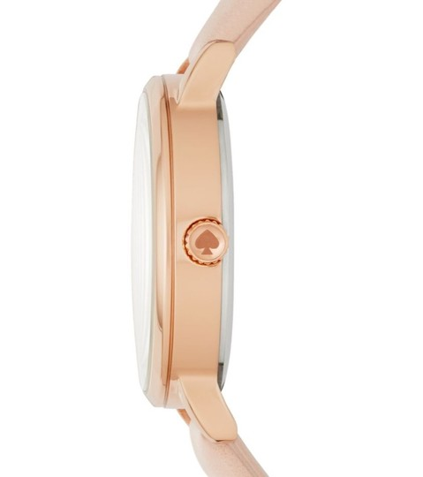 Kate Spade NEW vachetta leather and rose gold-tone metro watch KSW1253 Image 8