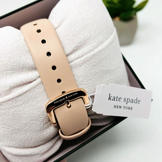 Kate Spade NEW vachetta leather and rose gold-tone metro watch KSW1253 Image 9