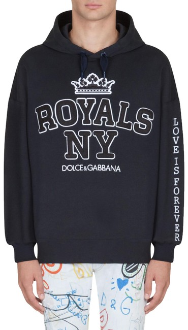 Preload https://img-static.tradesy.com/item/26134862/dolce-and-gabbana-black-men-s-printed-cotton-royals-ny-corona-sweatshirthoodie-size-4-s-0-4-650-650.jpg