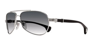 Chrome Hearts New CHROME HEARTS Sunglasses BABY BEAST SS-BK Silver Black Aviator