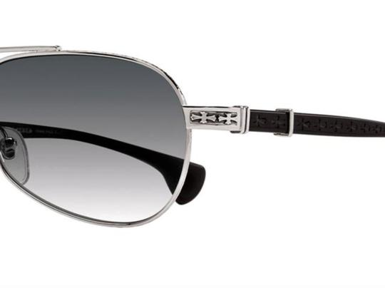 Chrome Hearts New CHROME HEARTS Sunglasses BABY BEAST SS-BK Silver Black Aviator Image 1