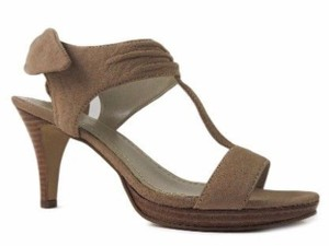Nine West Slingback Bow Heel Tan Sandals