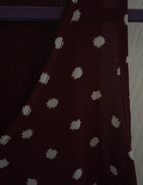 Ann Taylor LOFT Top Maroon with white dots Image 2