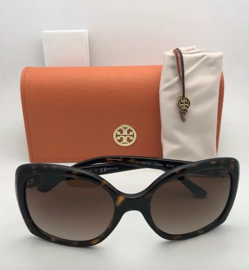 Tory Burch New TORY BURCH Sunglasses TY 7101 1377/13 Black Frame w/Brown Gradient Image 10