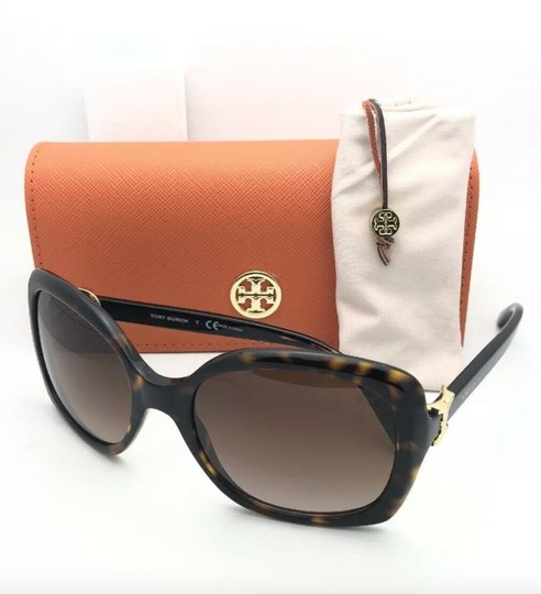 Tory Burch New TORY BURCH Sunglasses TY 7101 1377/13 Black Frame w/Brown Gradient Image 11
