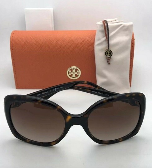 Tory Burch New TORY BURCH Sunglasses TY 7101 1377/13 Black Frame w/Brown Gradient Image 2