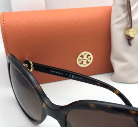 Tory Burch New TORY BURCH Sunglasses TY 7101 1377/13 Black Frame w/Brown Gradient Image 3