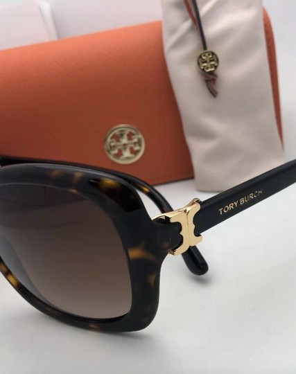 Tory Burch New TORY BURCH Sunglasses TY 7101 1377/13 Black Frame w/Brown Gradient Image 4